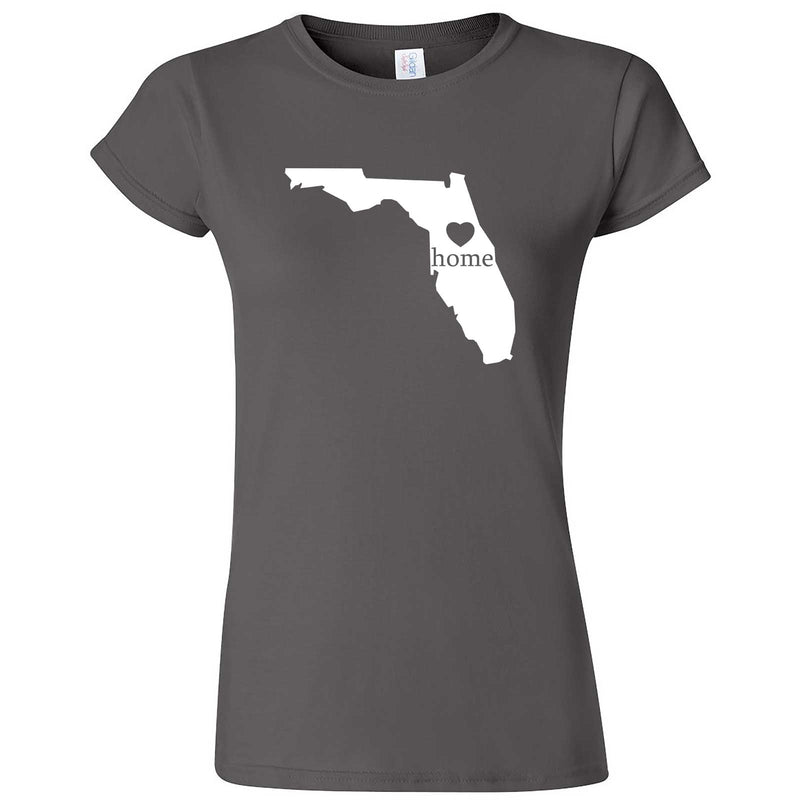 """Florida Home State Pride"" women's t-shirt Charcoal"