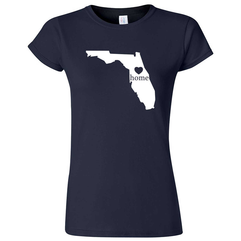 """Florida Home State Pride"" women's t-shirt Navy Blue"