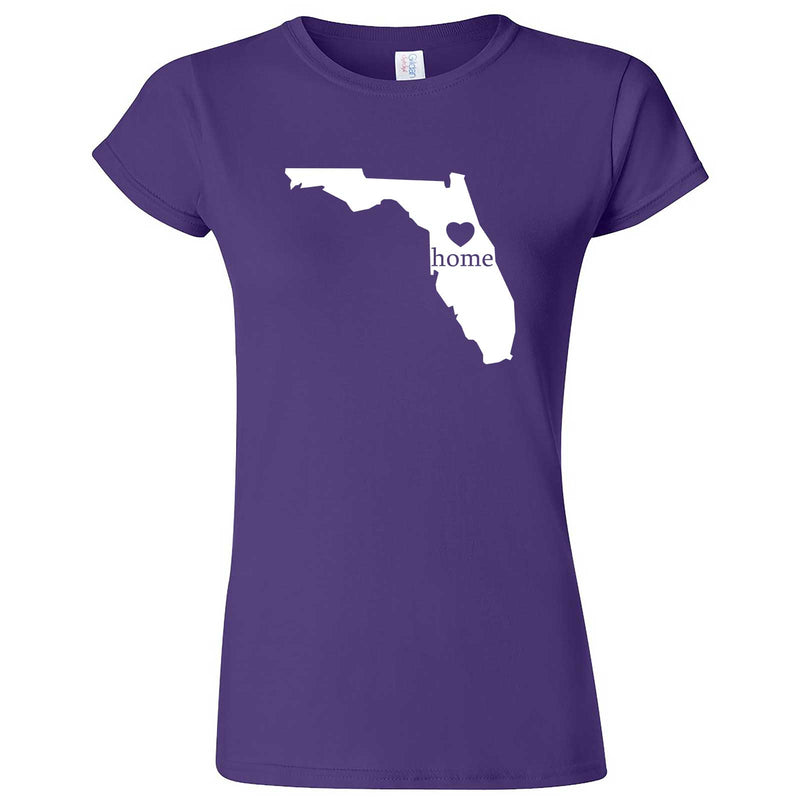 """Florida Home State Pride"" women's t-shirt Purple"