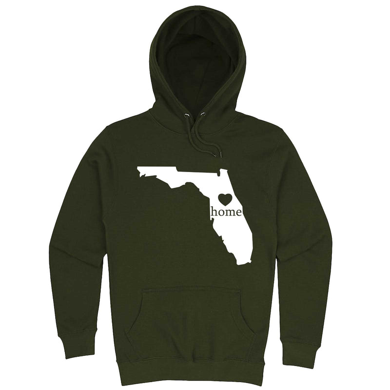 """Florida Home State Pride"" hoodie, 3XL, Army Green"