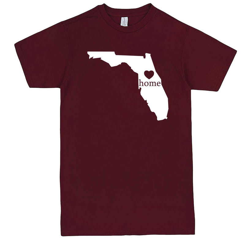 """Florida Home State Pride"" men's t-shirt Burgundy"