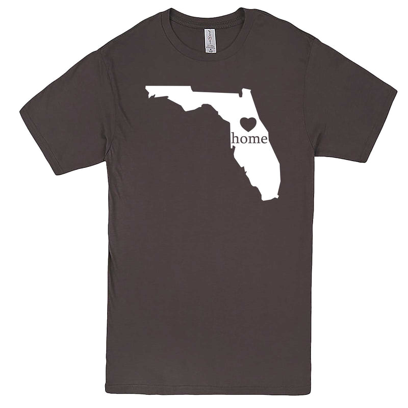 """Florida Home State Pride"" men's t-shirt Charcoal"