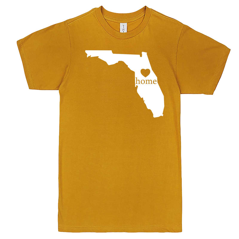"""Florida Home State Pride"" men's t-shirt Mustard"
