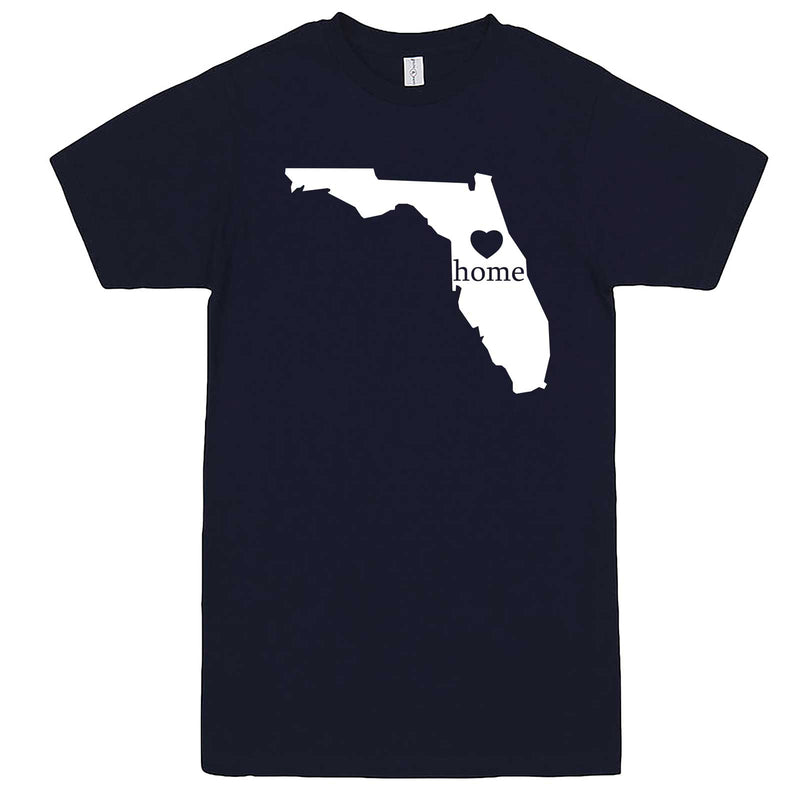 """Florida Home State Pride"" men's t-shirt Navy-Blue"