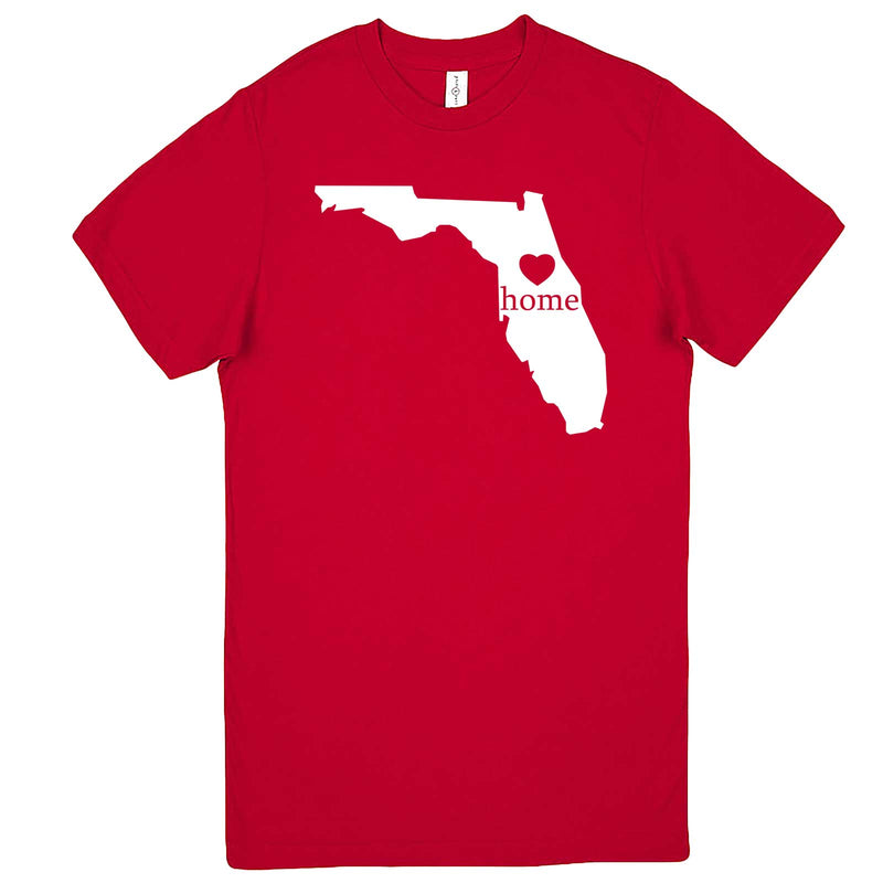 """Florida Home State Pride"" men's t-shirt Red"