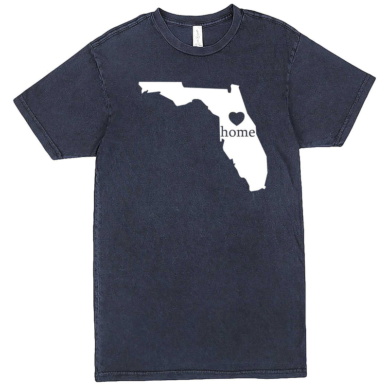 """Florida Home State Pride"" men's t-shirt Vintage Denim"