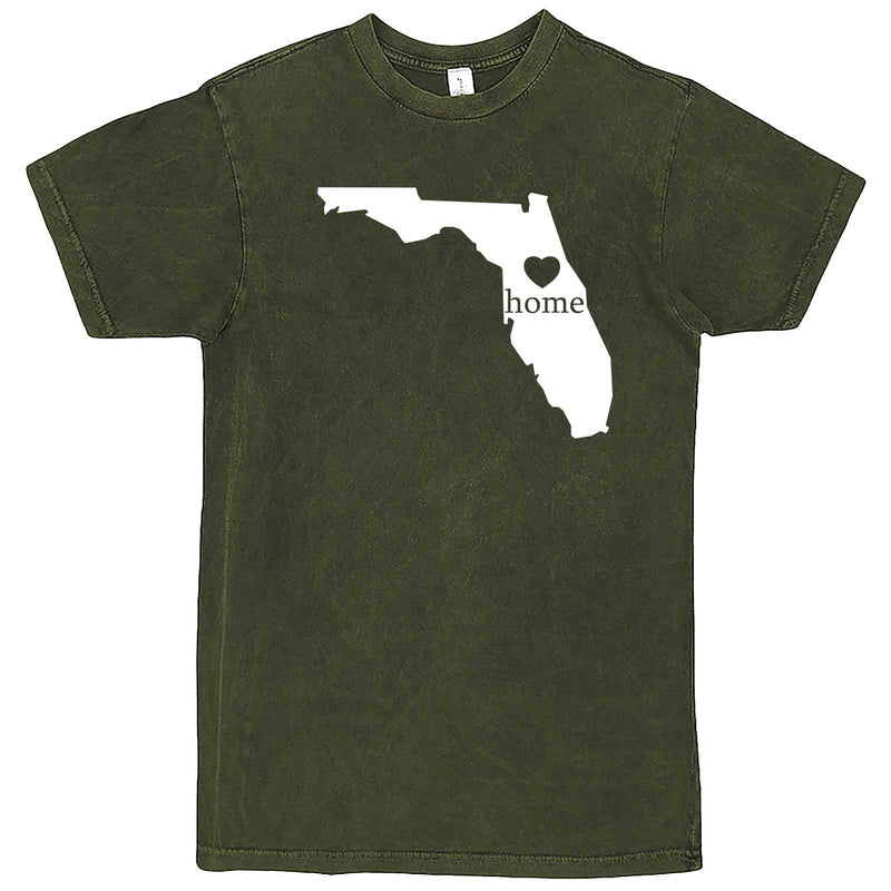 """Florida Home State Pride"" men's t-shirt Vintage Olive"