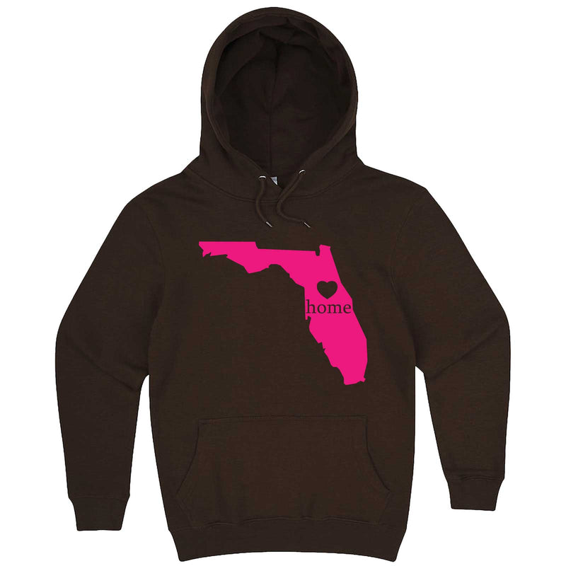 """Florida Home State Pride, Pink"" hoodie, 3XL, Chestnut"