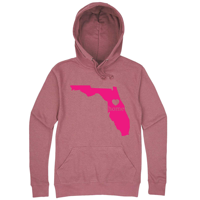 """Florida Home State Pride, Pink"" hoodie, 3XL, Mauve"