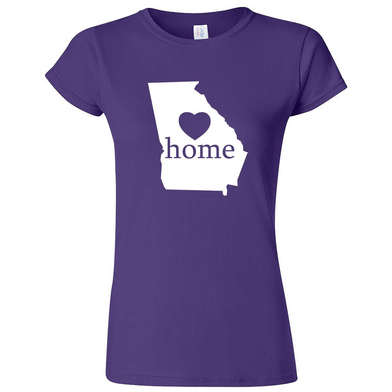 """Georgia Home State Pride, Pink"" women's t-shirt Purple"