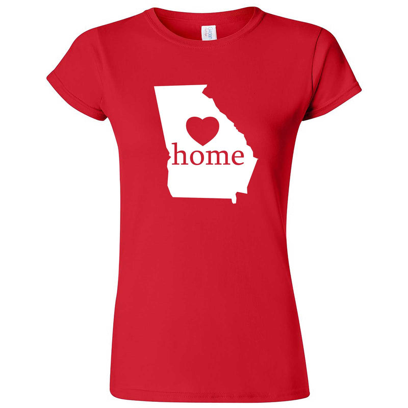 """Georgia Home State Pride, Pink"" women's t-shirt Red"