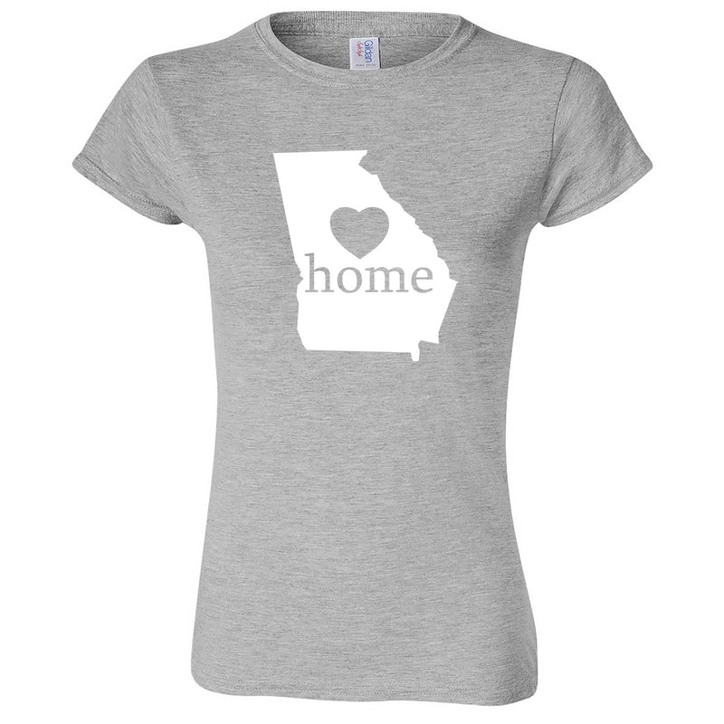 """Georgia Home State Pride, Pink"" women's t-shirt Sport Grey"