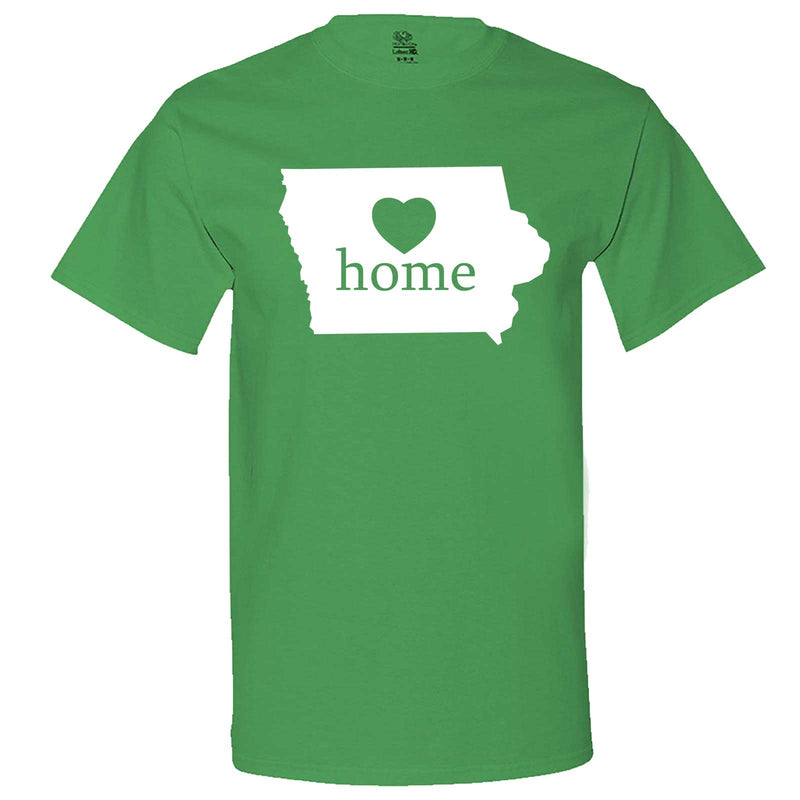 """Iowa Home State Pride"" men's t-shirt Irish-Green"