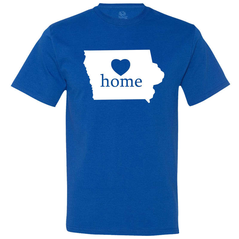 """Iowa Home State Pride"" men's t-shirt Royal-Blue"