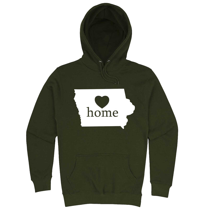 """Iowa Home State Pride"" hoodie, 3XL, Army Green"