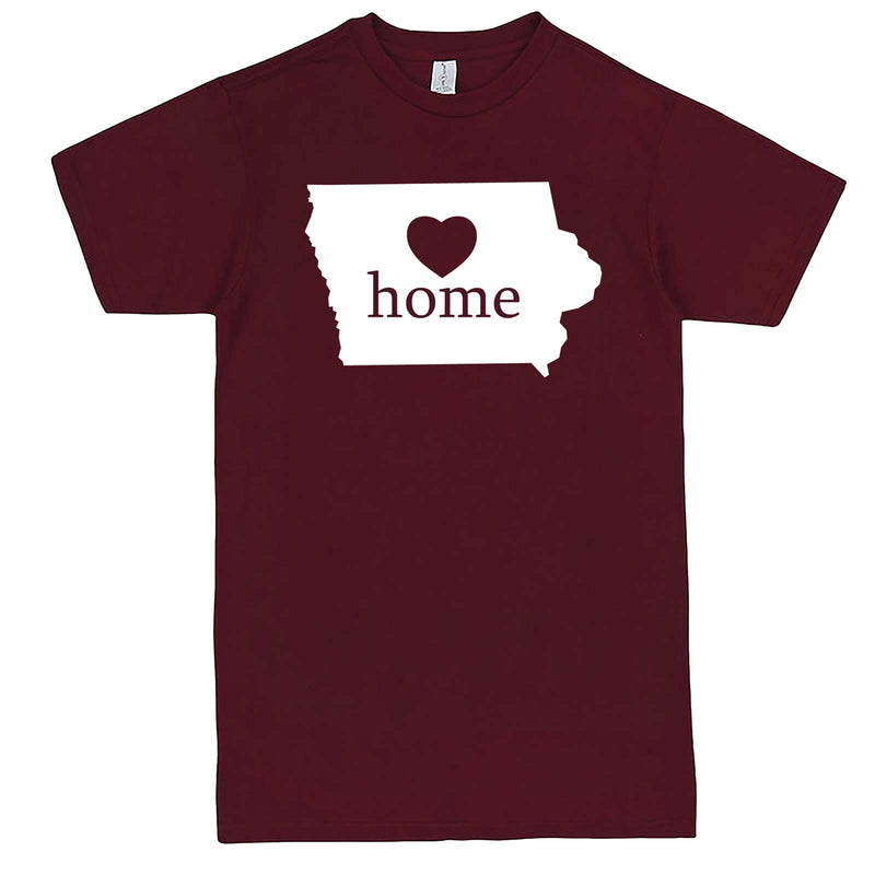 """Iowa Home State Pride"" men's t-shirt Burgundy"