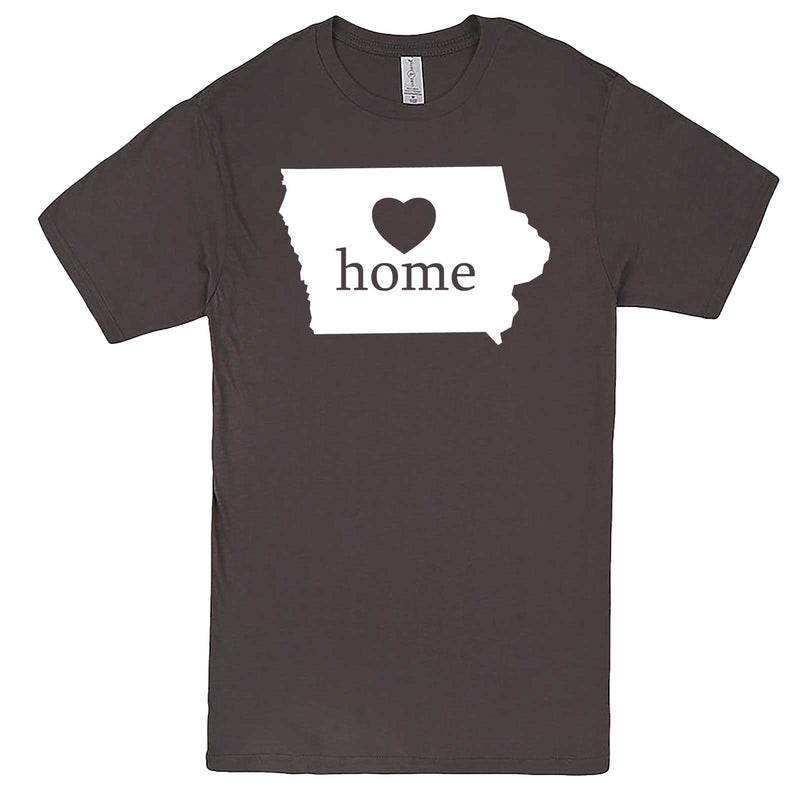 """Iowa Home State Pride"" men's t-shirt Charcoal"