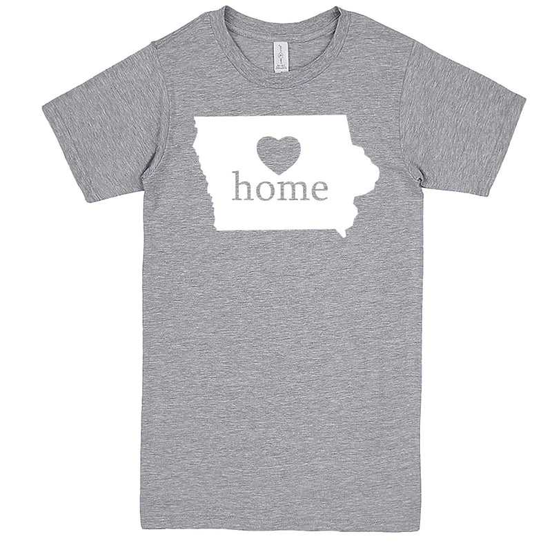 """Iowa Home State Pride"" men's t-shirt Heather-Grey"
