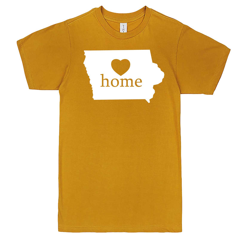 """Iowa Home State Pride"" men's t-shirt Mustard"