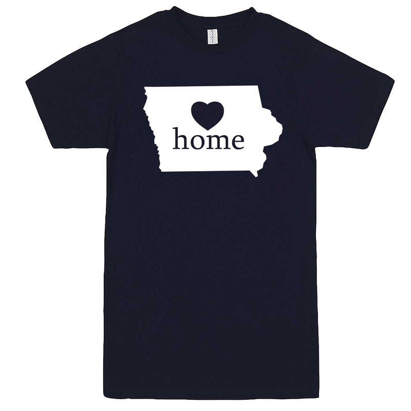 """Iowa Home State Pride"" men's t-shirt Navy-Blue"