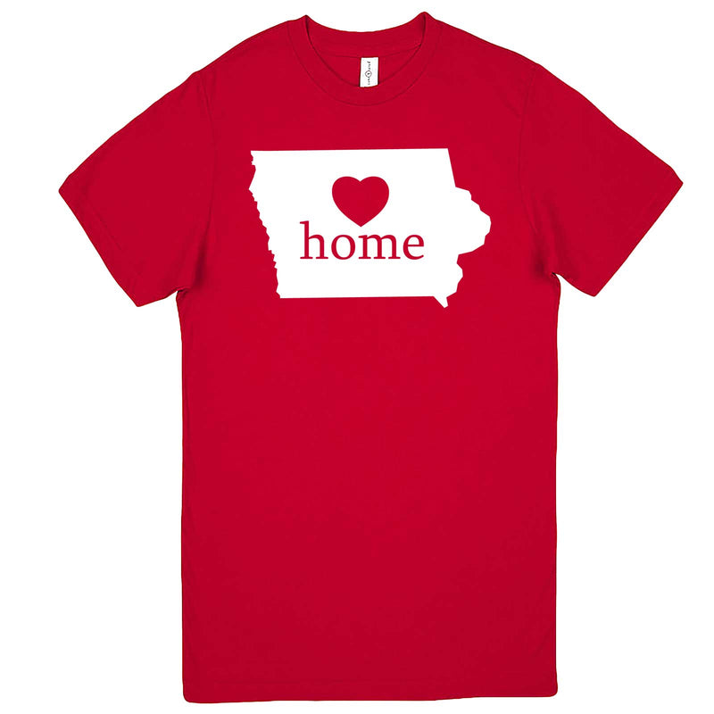 """Iowa Home State Pride"" men's t-shirt Red"