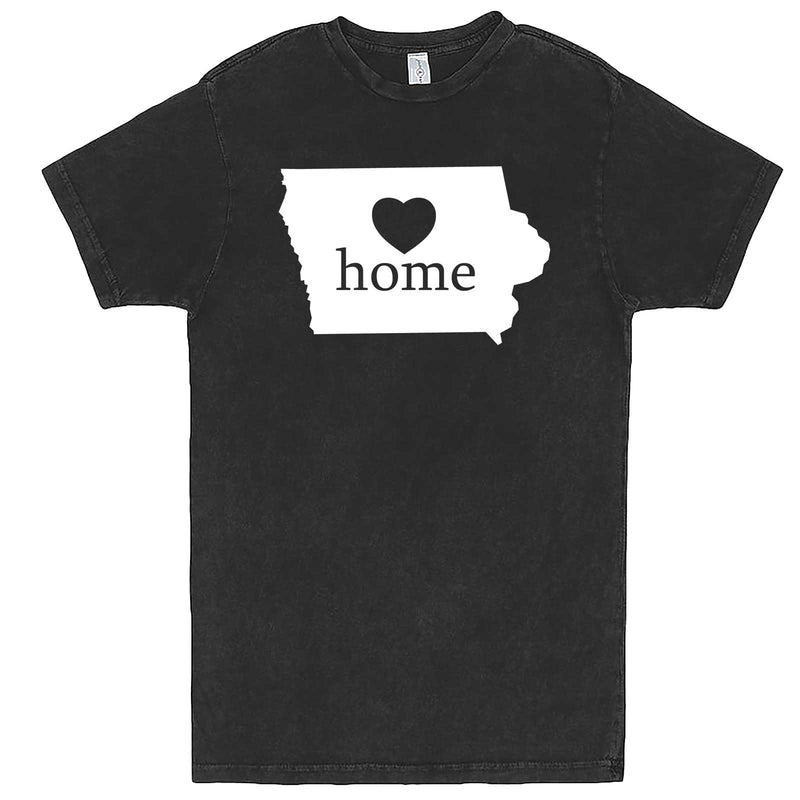"""Iowa Home State Pride"" men's t-shirt Vintage Black"