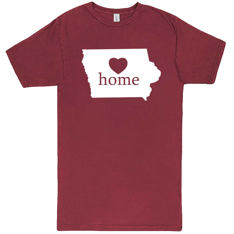 """Iowa Home State Pride"" men's t-shirt Vintage Brick"