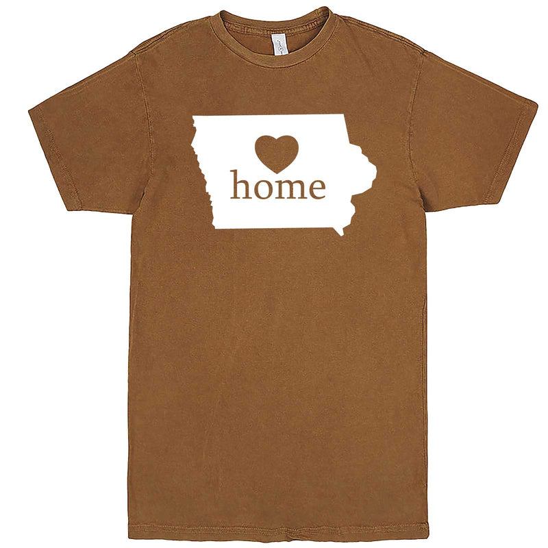 """Iowa Home State Pride"" men's t-shirt Vintage Camel"