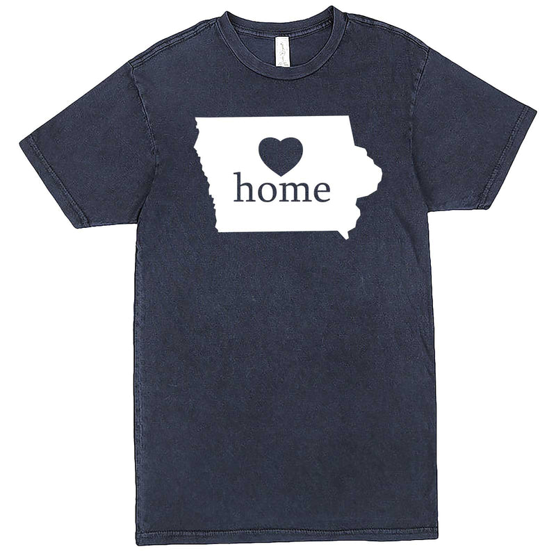 """Iowa Home State Pride"" men's t-shirt Vintage Denim"