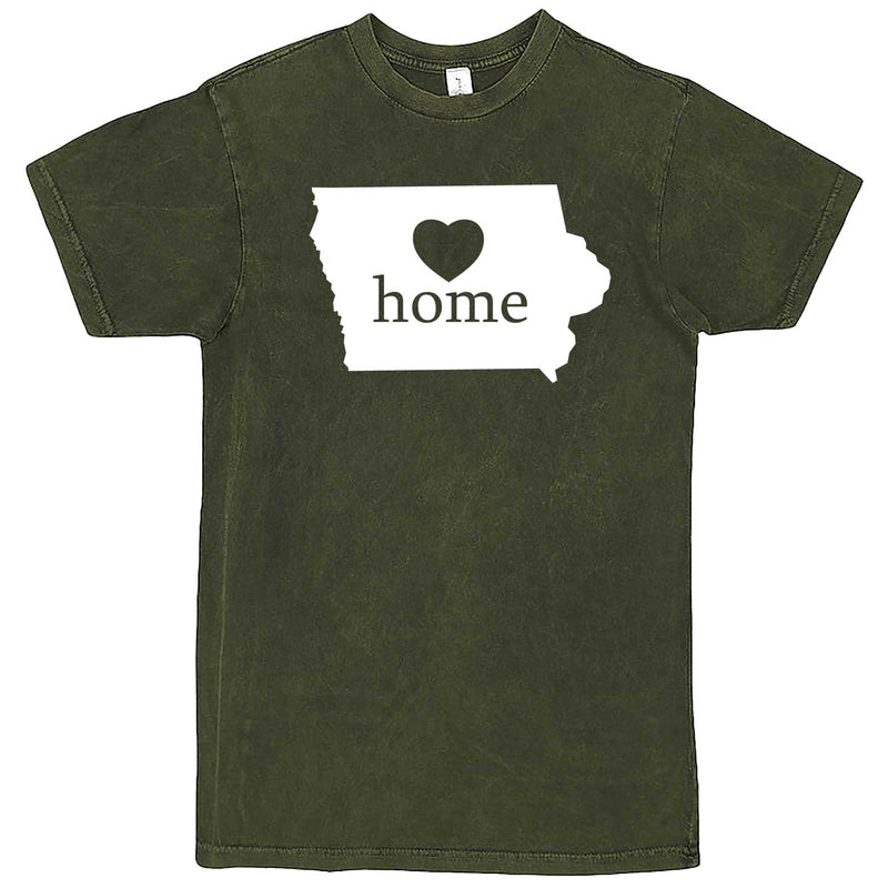 """Iowa Home State Pride"" men's t-shirt Vintage Olive"