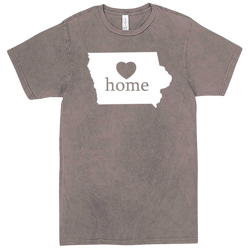 """Iowa Home State Pride"" men's t-shirt Vintage Zinc"