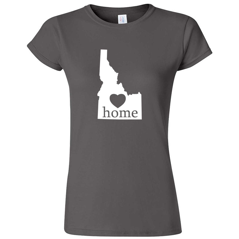 """Idaho Home State Pride"" women's t-shirt Charcoal"