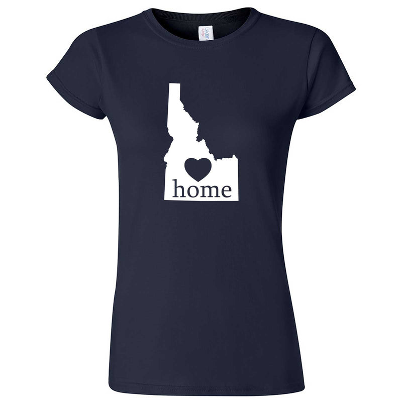 """Idaho Home State Pride"" women's t-shirt Navy Blue"