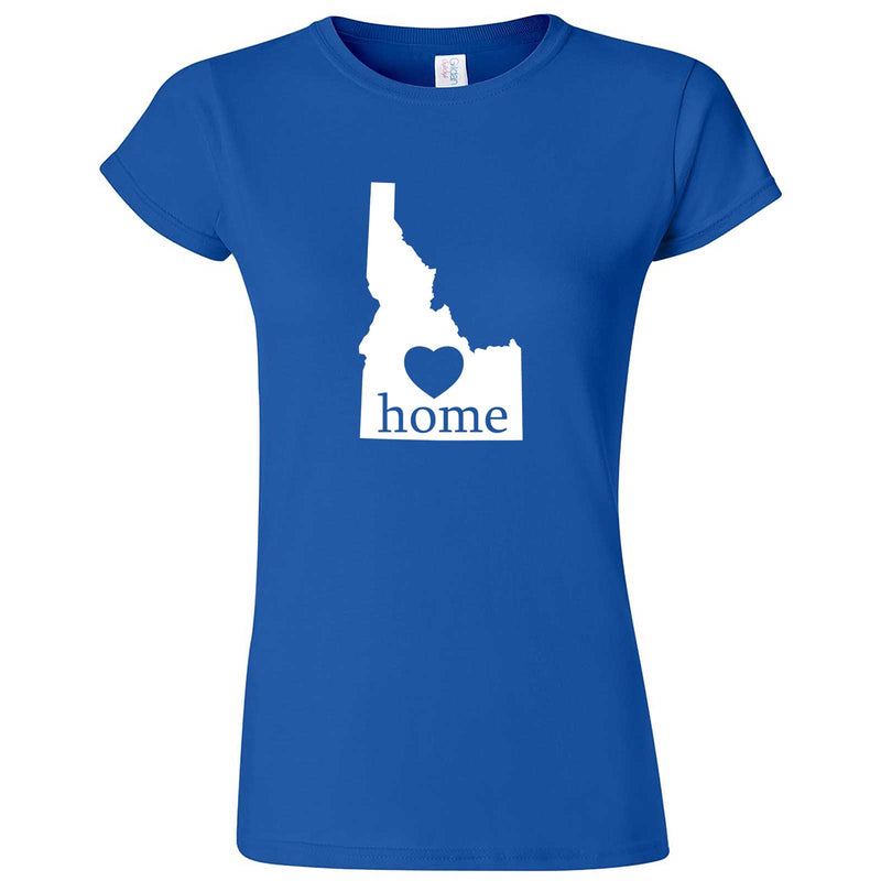 """Idaho Home State Pride"" women's t-shirt Royal Blue"