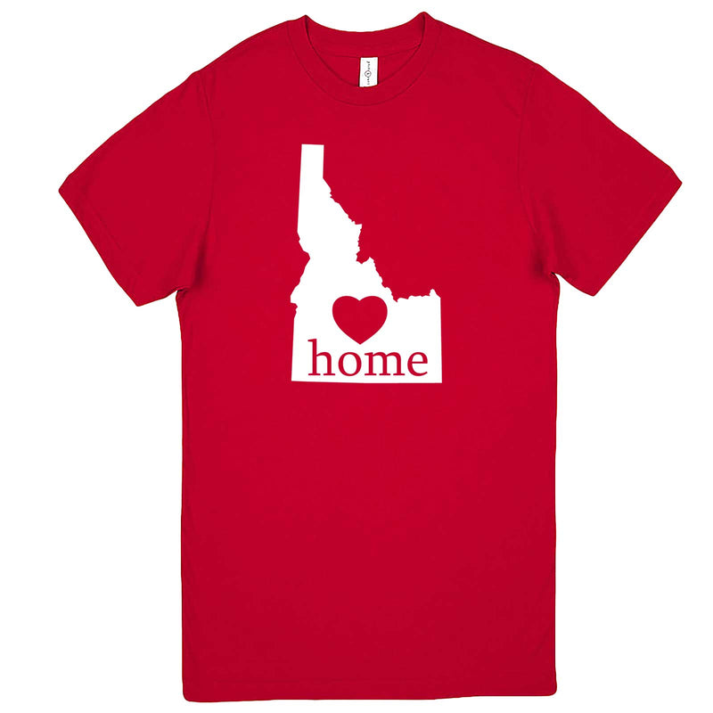 """Idaho Home State Pride"" men's t-shirt Red"
