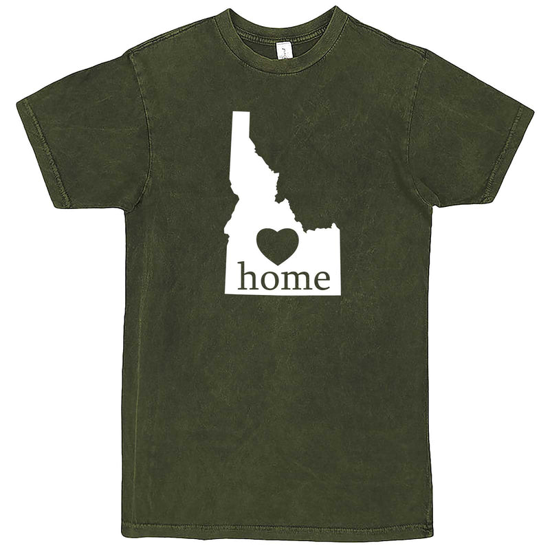 """Idaho Home State Pride"" men's t-shirt Vintage Olive"