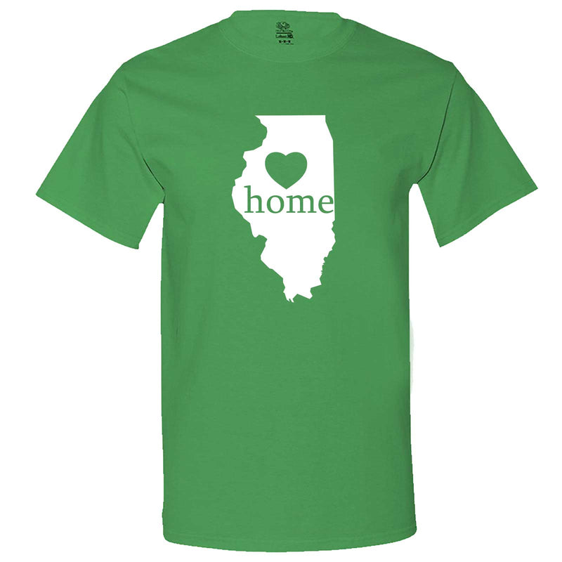 """Illinois Home State Pride, Pink"" men's t-shirt Irish-Green"