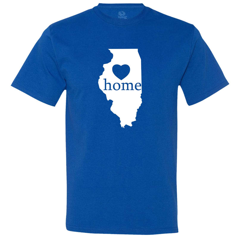 """Illinois Home State Pride, Pink"" men's t-shirt Royal-Blue"