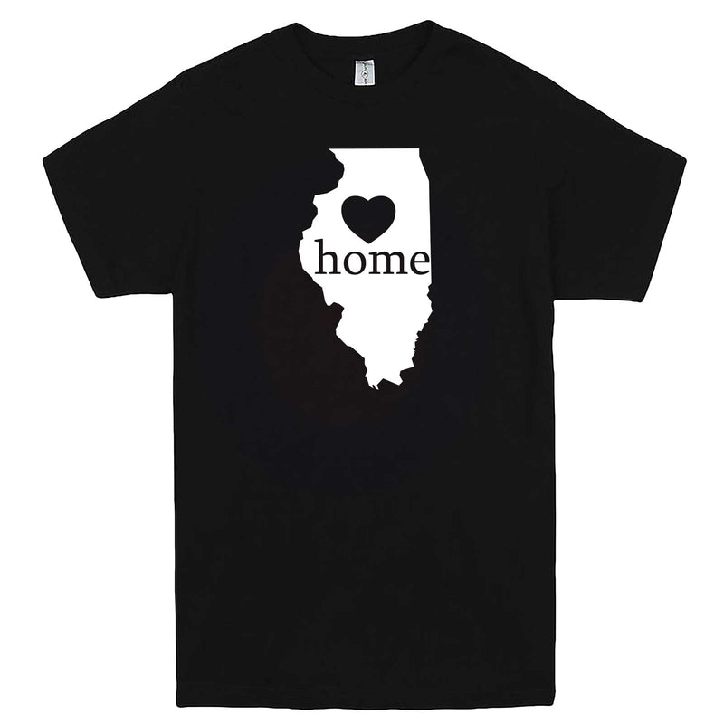 """Illinois Home State Pride, Pink"" men's t-shirt Black"
