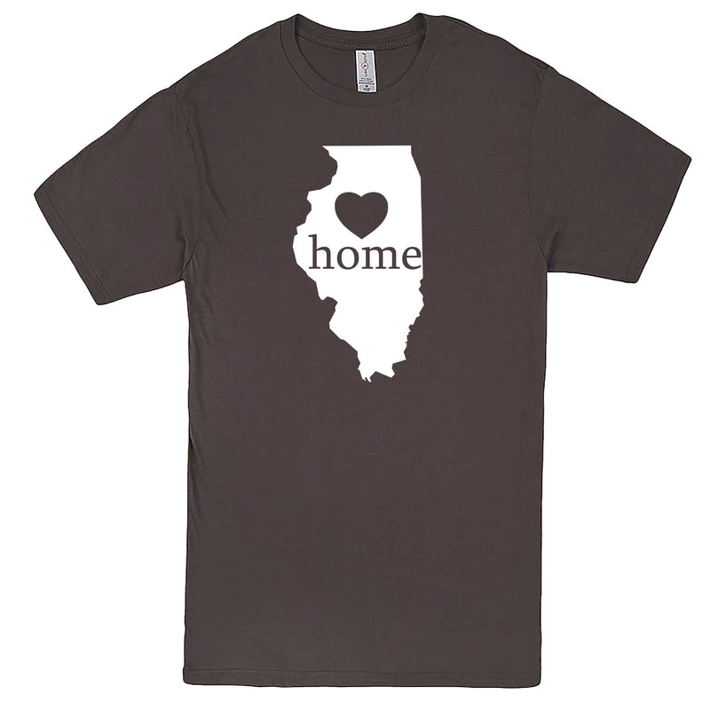 """Illinois Home State Pride, Pink"" men's t-shirt Charcoal"