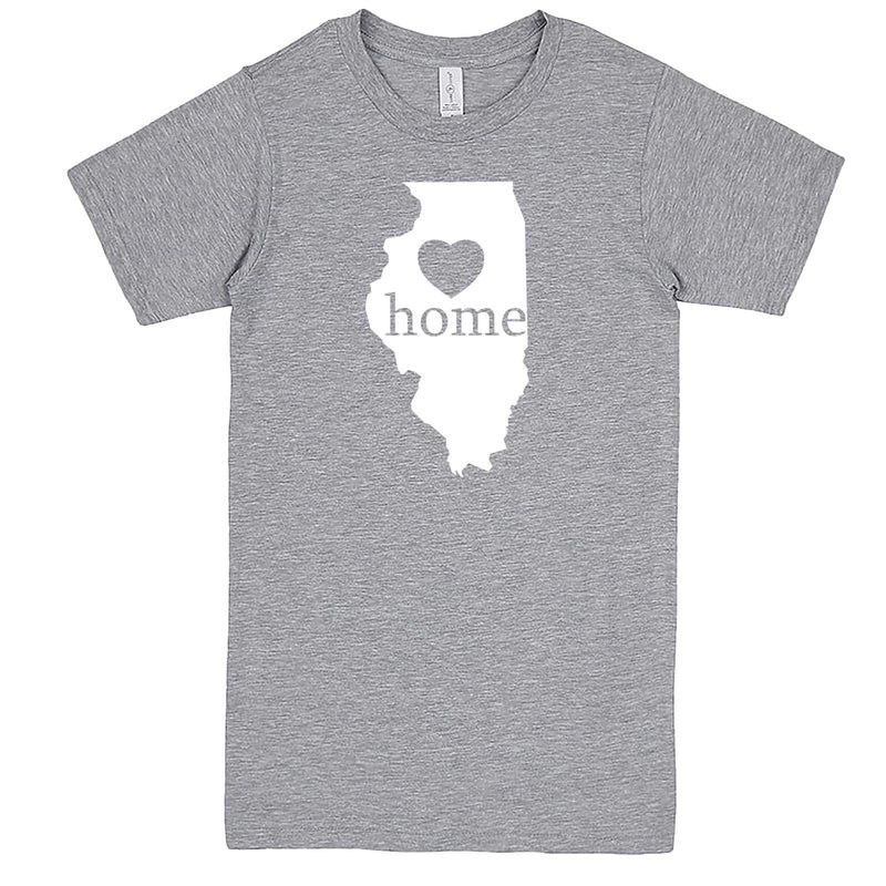 """Illinois Home State Pride, Pink"" men's t-shirt Heather-Grey"
