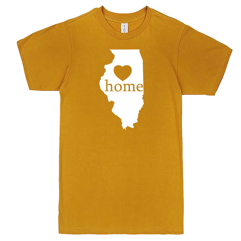"""Illinois Home State Pride, Pink"" men's t-shirt Mustard"