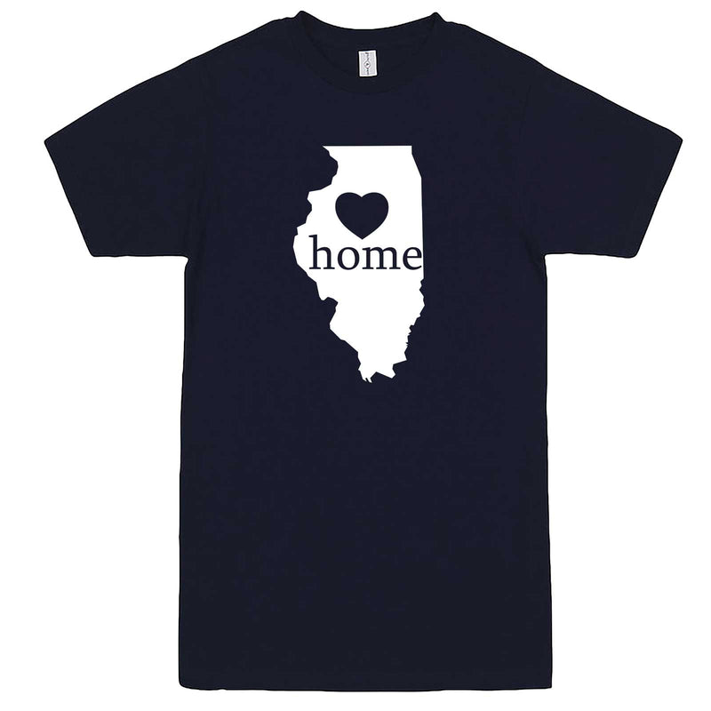 """Illinois Home State Pride, Pink"" men's t-shirt Navy-Blue"