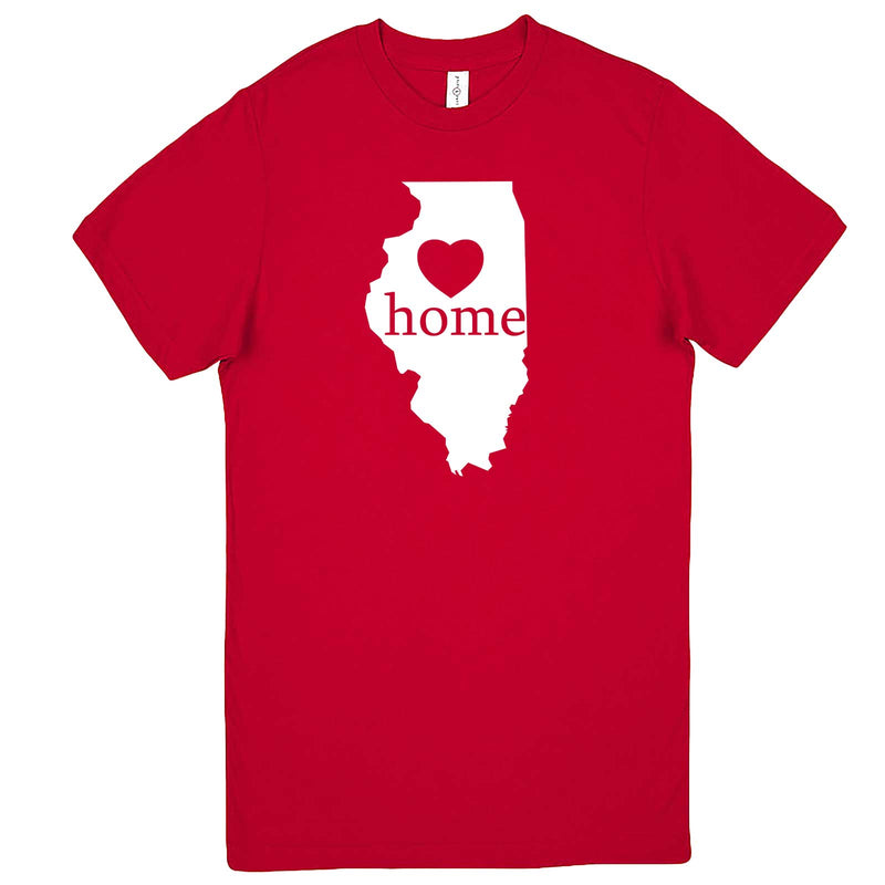"""Illinois Home State Pride, Pink"" men's t-shirt Red"