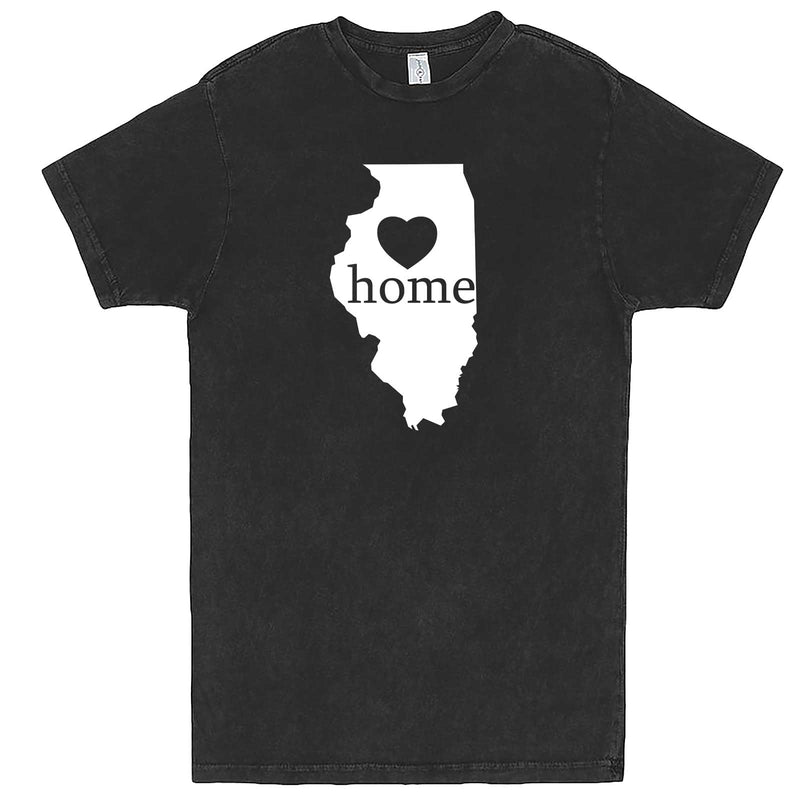 """Illinois Home State Pride, Pink"" men's t-shirt Vintage Black"