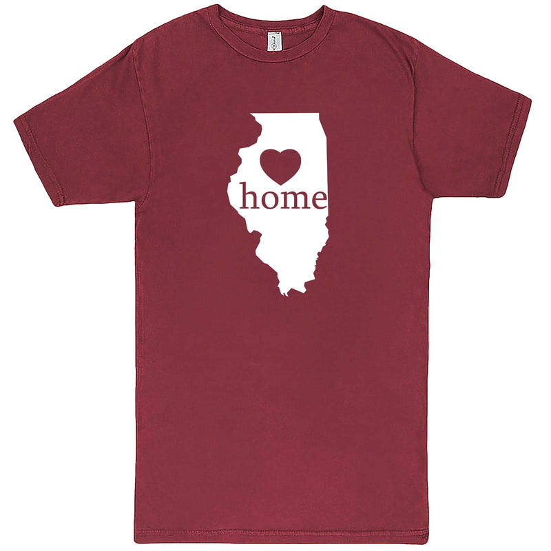 """Illinois Home State Pride, Pink"" men's t-shirt Vintage Brick"
