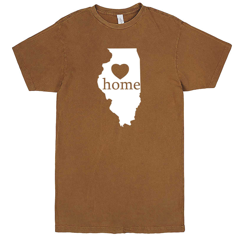 """Illinois Home State Pride, Pink"" men's t-shirt Vintage Camel"