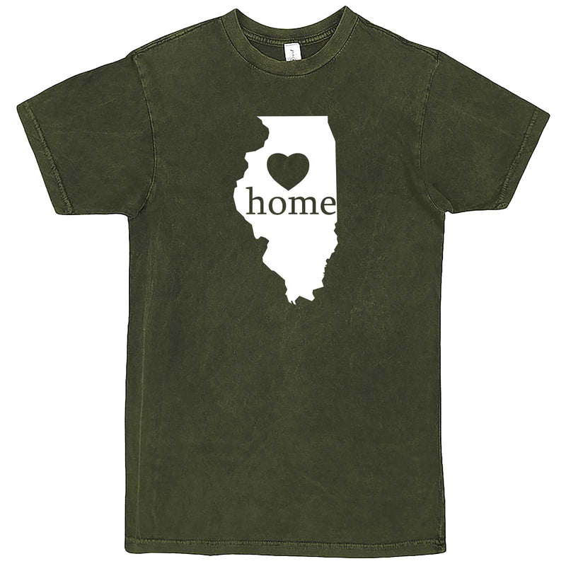 """Illinois Home State Pride, Pink"" men's t-shirt Vintage Olive"