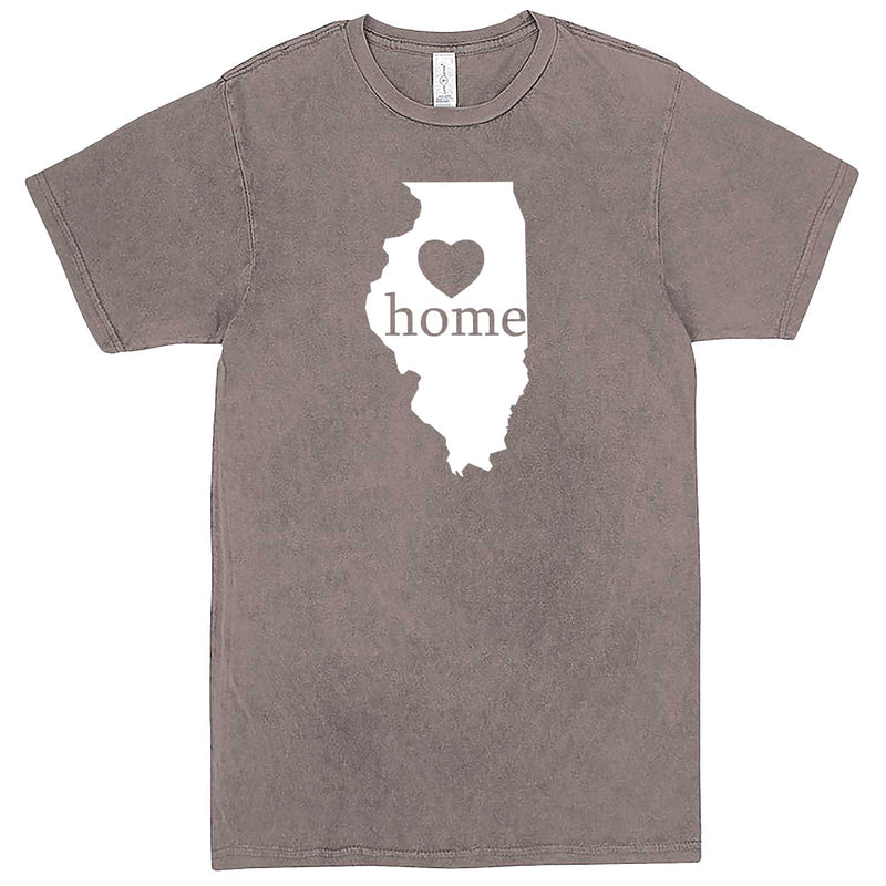 """Illinois Home State Pride, Pink"" men's t-shirt Vintage Zinc"