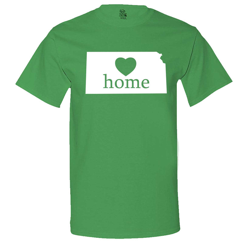 """Kansas Home State Pride, Pink"" men's t-shirt Irish-Green"